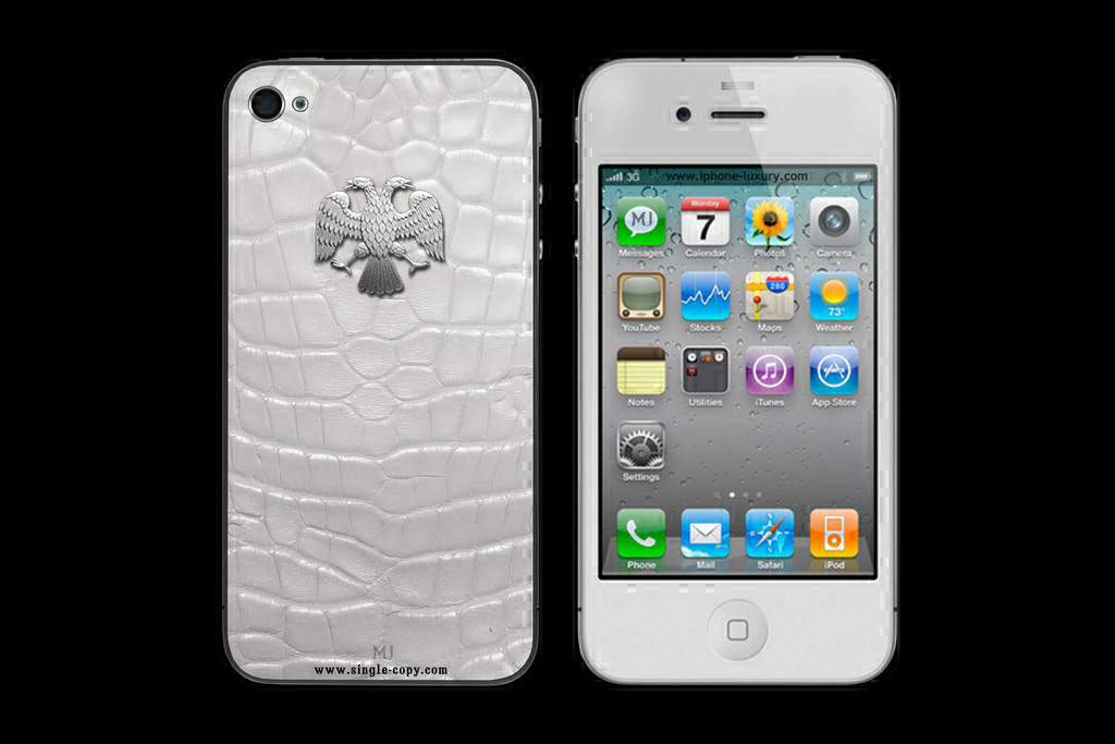 APPLE IPHONE 4S WHITE GOLD CROCODILE PRIVATE MJ EDITION