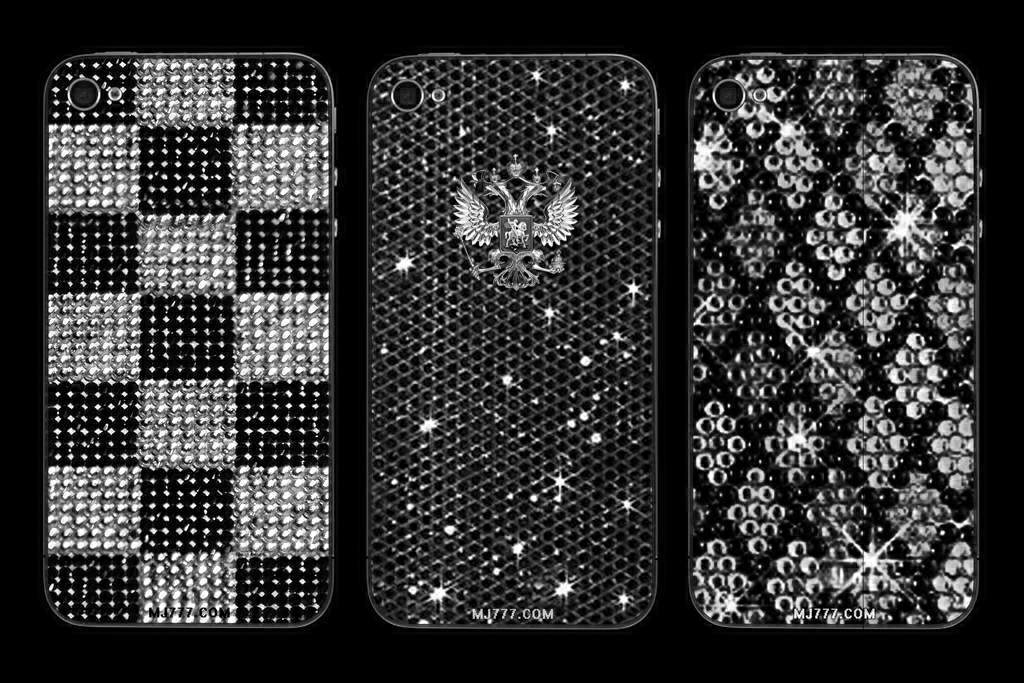 CASES OR TUNING FOR APPLE IPHONE DIAMOND MJ LUXURY EDITION