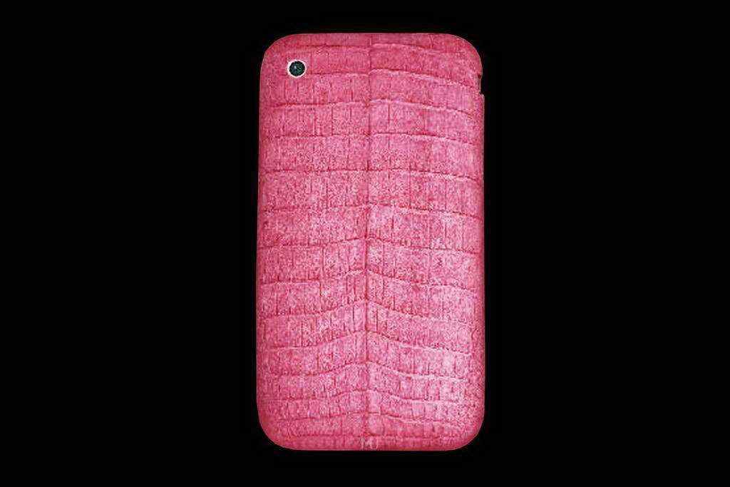 Apple iPhone NEW 4G Pink Crocodile Leather MJ Edition