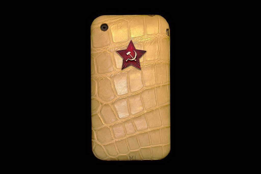 Apple iPhone Exotic Leather MJ Luxury Edition - Alligator Original Skin with Diamond Apple Cut 57