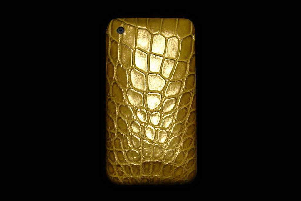 Apple iPhone Leather MJ Luxury Edition - Crocodile Dark Green Skin Original