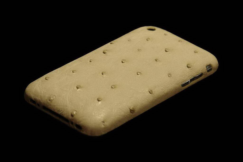 Apple iPhone 4G Modding Gold Leather Limited Edition - Ostrich White Milk