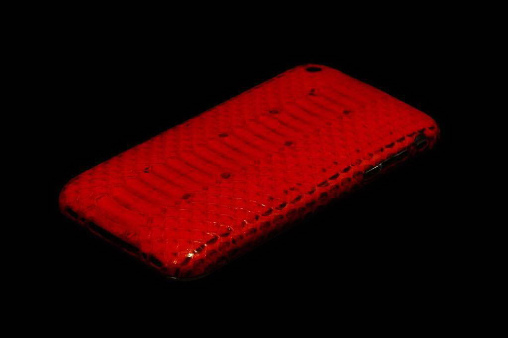 Apple iPhone Platinum Exotic Leather MJ Limited Edition - Python Red Dark Skin