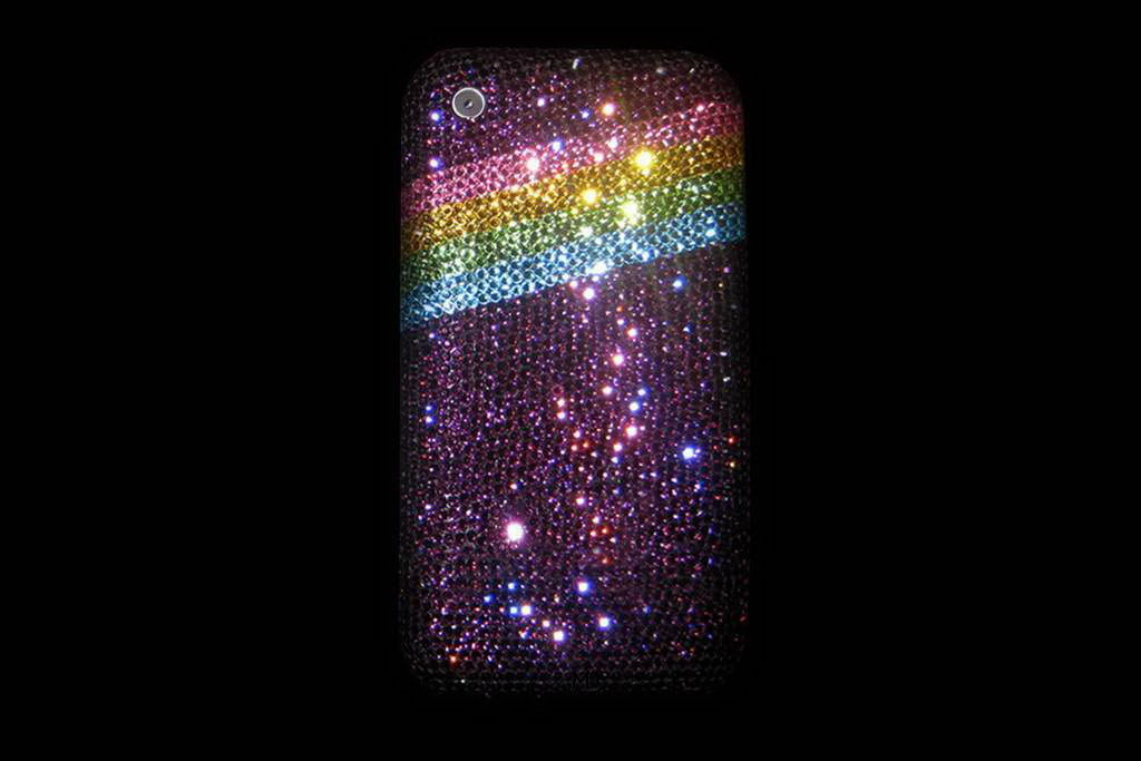 Apple iPhone Swarovski Dark Pink Rainbow Limited Edition